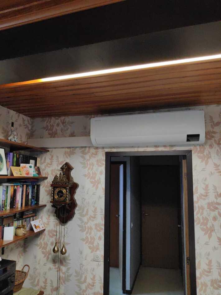 Realisatie Samsung multisplit warmtepomp met 2 binnenunits wind free Comfort + Elite te Aalst