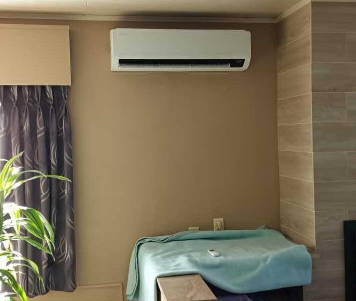 Realisatie Samsung single split warmtepomp wind free Comfort te Berlare