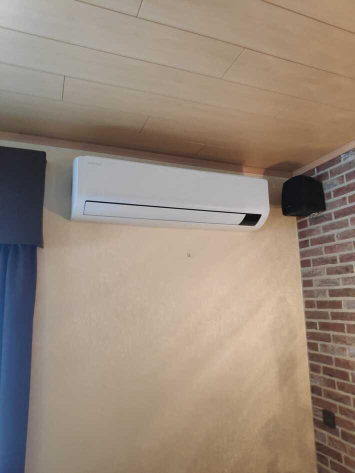 Realisatie Samsung single split warmtepomp wind free Comfort te Gentbrugge