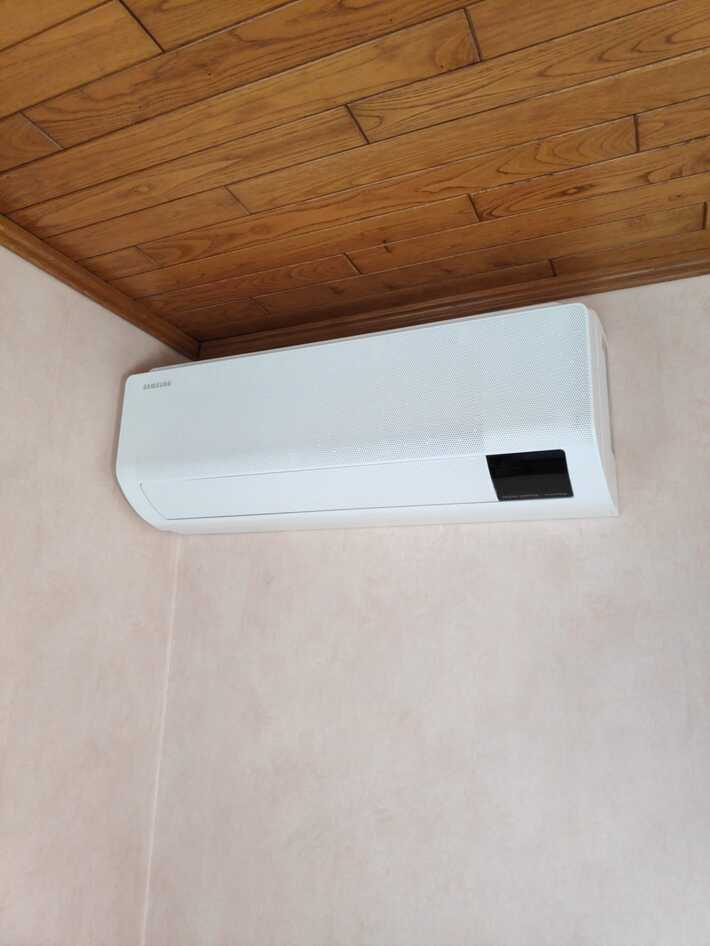 Realisatie Samsung multisplit warmtepomp met 2 binnenunits wind free Comfort te Bremenhulweg in Lede