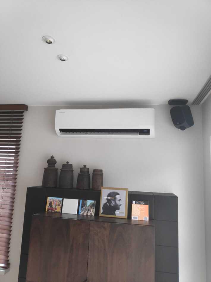 Realisatie Samsung multisplit warmtepomp met 2 binnenunits wind free Comfort te Denderleeuw