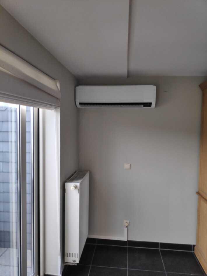 Realisatie Samsung multisplit warmtepomp met 2 binnenunits wind free Comfort te Herzele