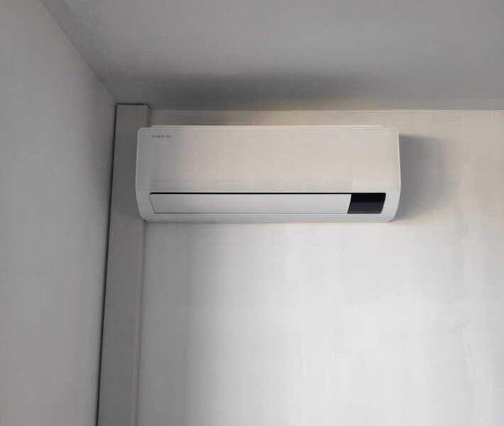 Realisatie Samsung multisplit warmtepomp met 4 binnenunits wind free Comfort te Oomsbergen