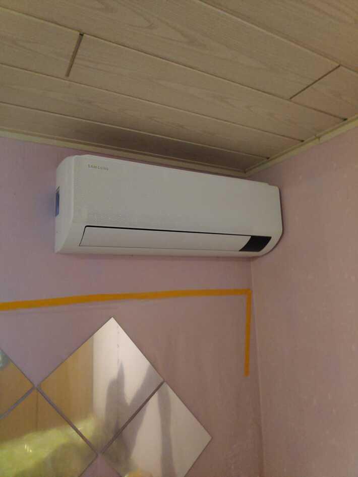 Realisatie Samsung multisplit warmtepomp met 4 binnenunits wind free Comfort te Ressegem