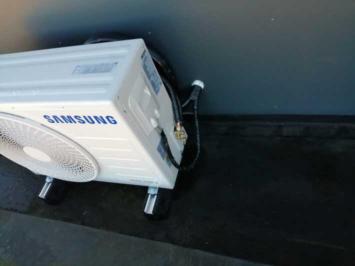 Realisatie Samsung single split warmtepomp vloermodel te Erembodegem