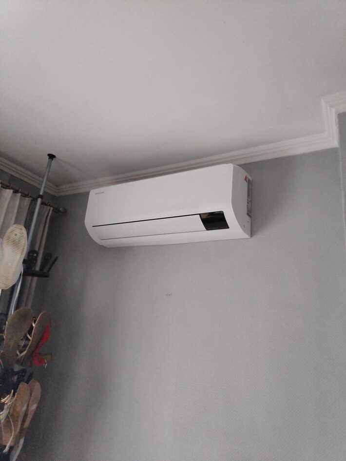 Realisatie Samsung multisplit aircowarmtepomp met 3 binnenunits wind free Comfort in Aalst