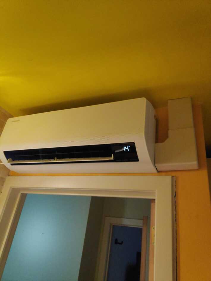 Realisatie Samsung multisplit aircowarmtepomp met 3 binnenunits wind free Comfort in Schonegem te Erpe-Mere