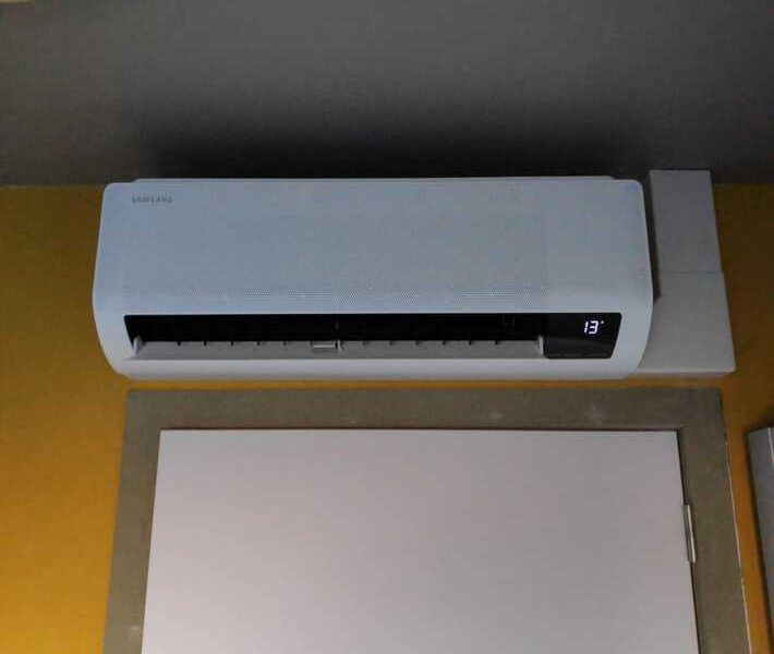Realisatie Samsung multisplit airco/warmtepomp met 3 binnenunits wind free Comfort in Schonegem te Erpe-Mere