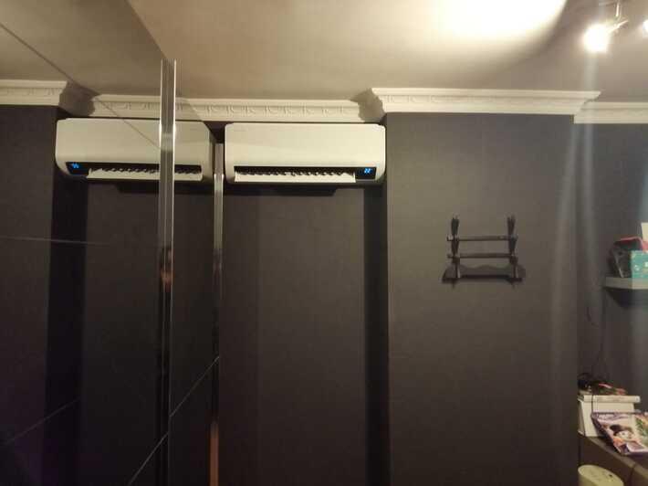 Realisatie Samsung multisplit aircowarmtepomp met 3 binnenunits wind free Comfort te Erpe-Mere