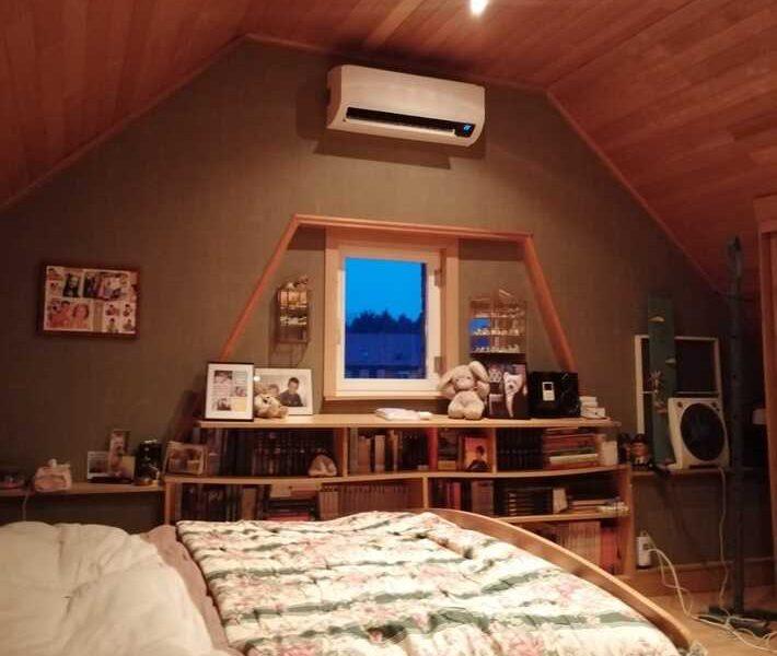 Realisatie Samsung multisplit airco/warmtepomp met 3 binnenunits wind free Comfort te Erpe-Mere