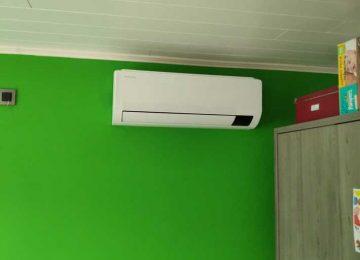 Realisatie Samsung multisplit airco/warmtepomp met 3 binnenunits wind free Comfort te Reymeersstraat in Lede