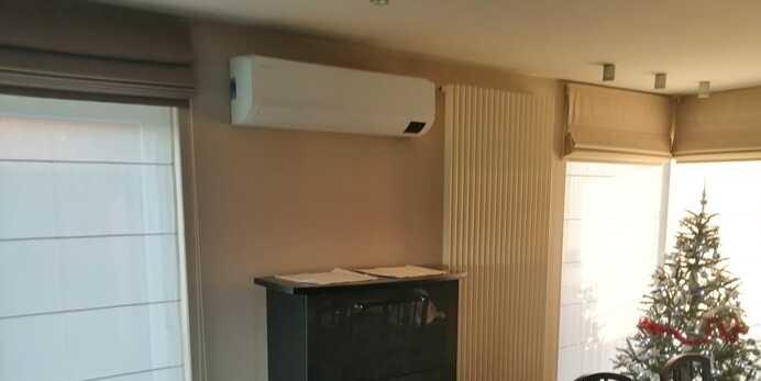 Realisatie Samsung multisplit airco/warmtepomp met 3 binnenunits wind free Comfort te Sint-Lievens-Houtem