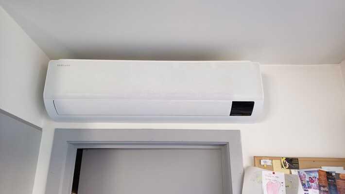 Realisatie Samsung multisplit airco/warmtepomp met 4 binnenunits wind free Comfort te Denderleeuw
