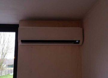 Realisatie Samsung multisplit airco/warmtepomp met 2 binnenunits wind free Comfort Nerenbroekstraat te Erpe-Mere