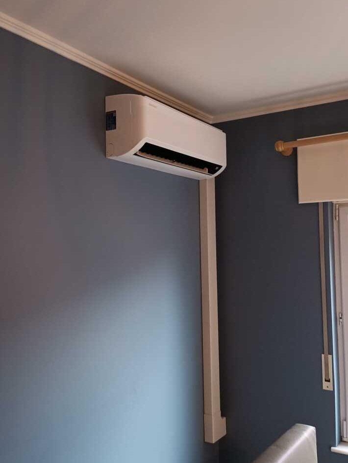 Realisatie Samsung multisplit aircowarmtepomp met 2 binnenunits wind free Elite + Comfort in de Dwarsstraat te Lede