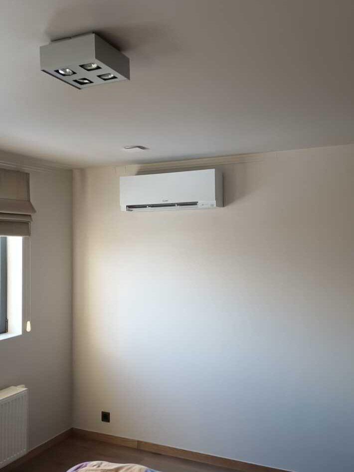 Realisatie Mitsubishi multisplit aircowarmtepomp met 2 binnenunits te Serskamp