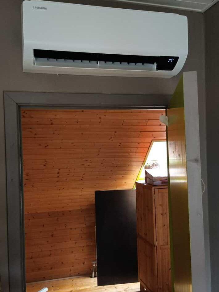Realisatie Samsung multisplit aircowarmtepomp Luzon te Erembodegem