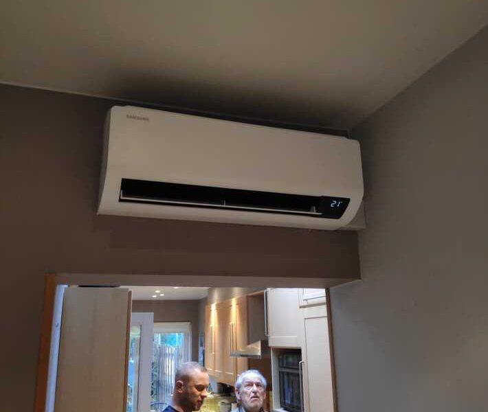 Realisatie Samsung multisplit airco/warmtepomp met 2 Luzon binneunits te Aalst