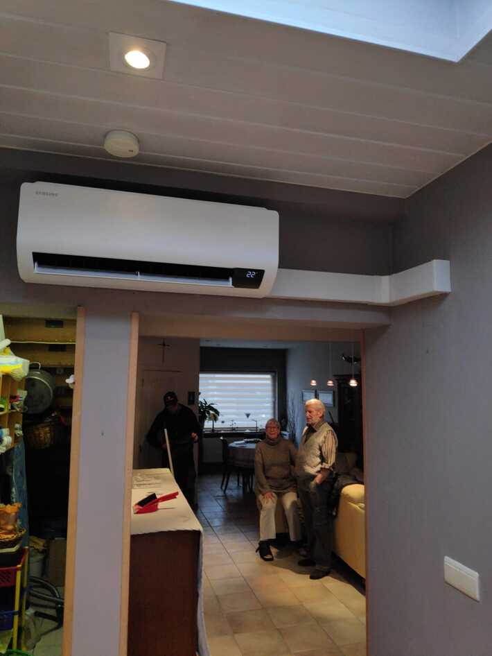 Realisatie Samsung multisplit aircowarmtepomp met 2 Luzon binneunits te Aalst