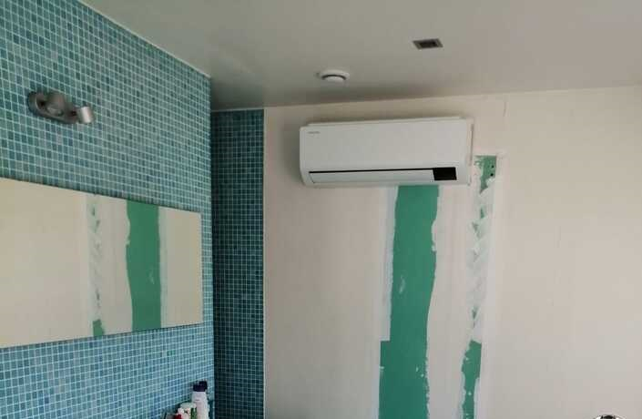 Realisatie Samsung multisplit airco/warmtepomp met 2 Luzon binneunits te Lede