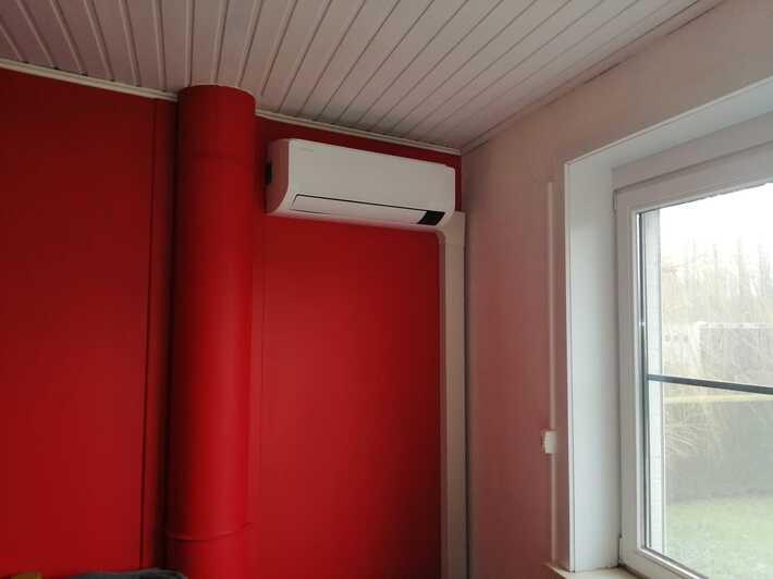Realisatie Samsung multisplit aircowarmtepomp met 2 binnenunits wind free Comfort te Gontrode
