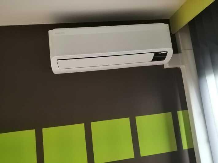 Realisatie Samsung multisplit aircowarmtepomp met 4 binnenunits wind free Comfort + Elite te Lede