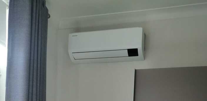 Realisatie Samsung multisplit airco/warmtepomp met 2 Luzon binnenunits Gentsesteenweg te Aalst