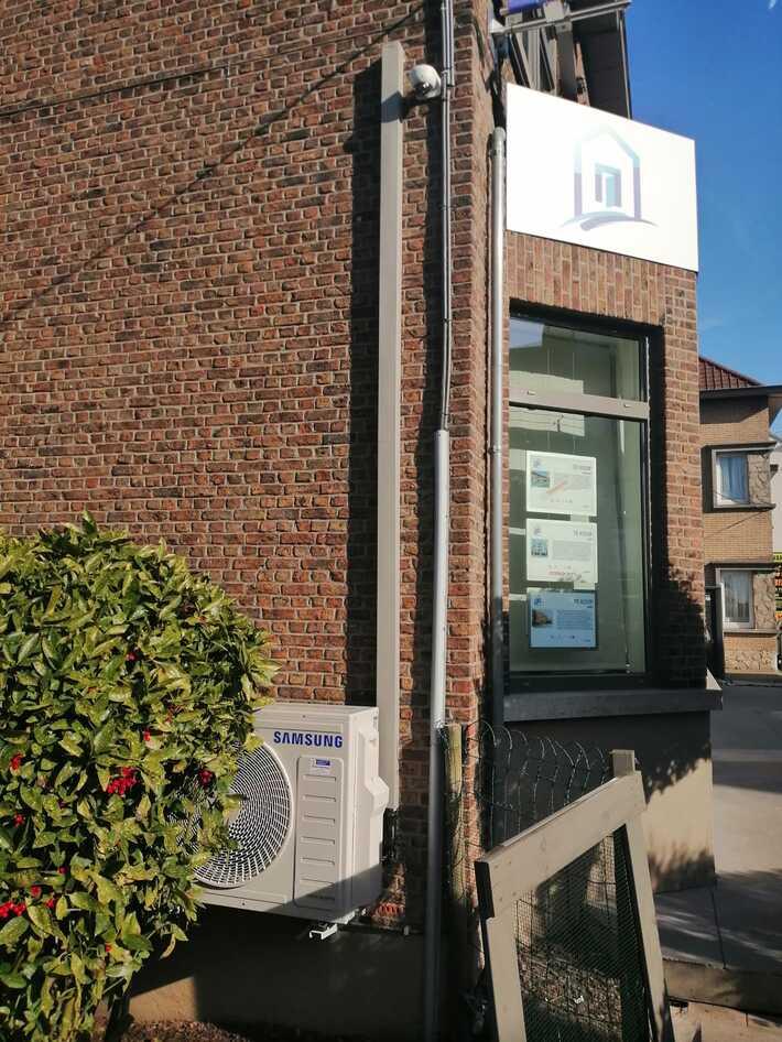 Realisatie Samsung multisplit aircowarmtepomp met 2 Luzon binnenunits Gentsesteenweg te Aalst