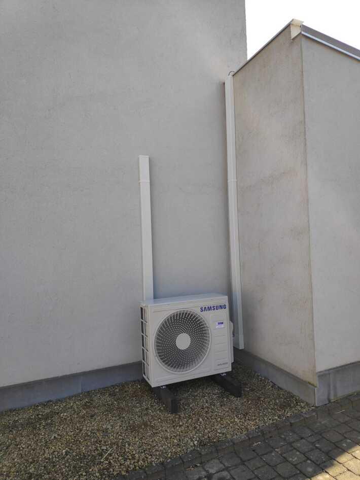 Realisatie Samsung multisplit aircowarmtepomp met 2 binnenunits wind free Comfort Dikkelindestraat te Erpe-Mere