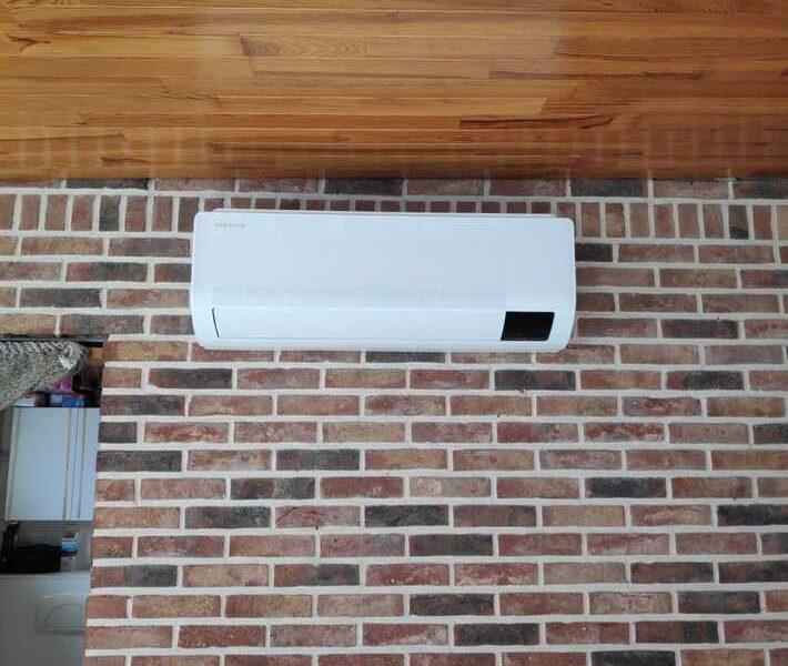 Realisatie Samsung multisplit airco/warmtepomp met 2 binnenunits wind free Comfort Dikkelindestraat te Erpe-Mere