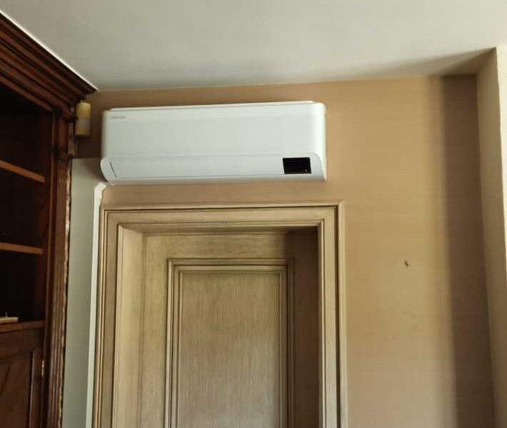 Realisatie Samsung multisplit airco/warmtepomp met 2 binnenunits wind free Comfort + Elite te Nieuwerkerken