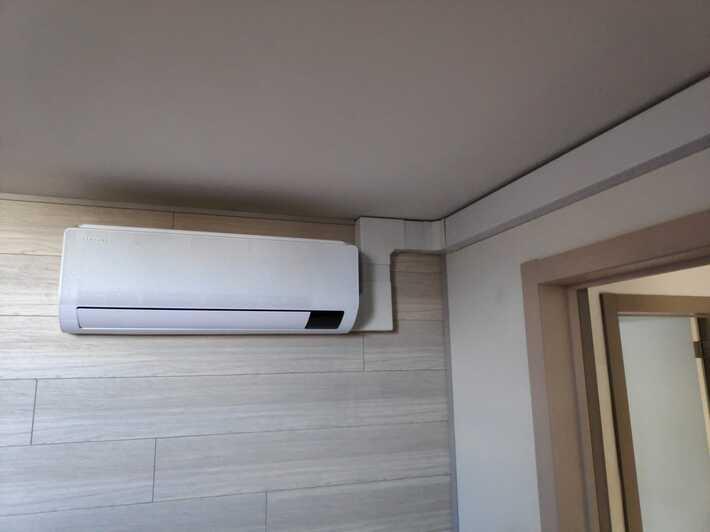 Realisatie Samsung multisplit airco/warmtepomp met 2 binnenunits wind free Comfort te Hostade