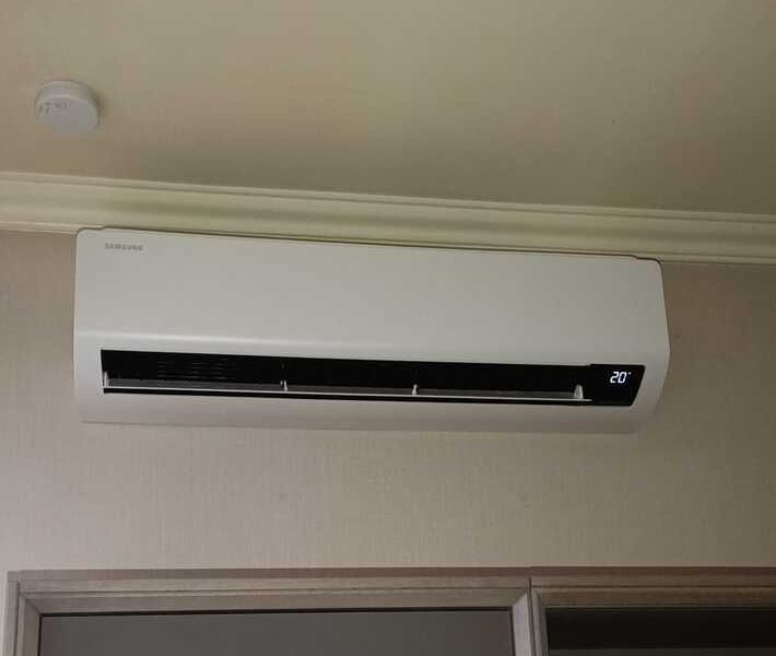 Realisatie Samsung multisplit airco/warmtepomp met 3 Luzon binnenunits te Hofstade