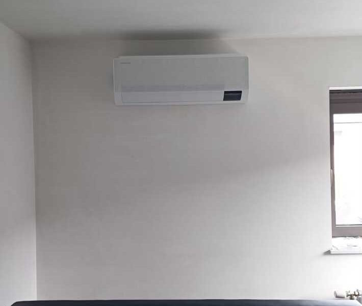 Realisatie Samsung multisplit airco/warmtepomp met 4 binnenunits wind free Comfort te Borsbeke
