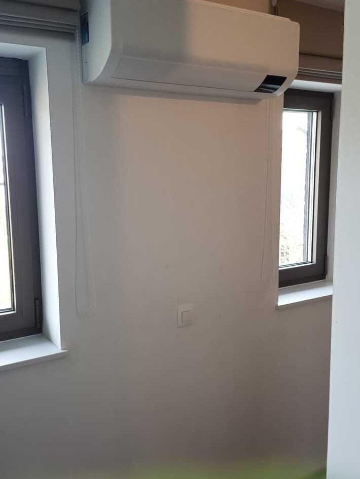 Realisatie Samsung multisplit aircowarmtepomp met 4 binnenunits wind free Comfort te Borsbeke