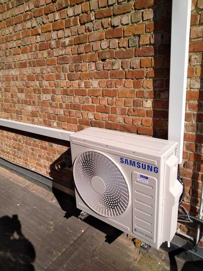 Realisatie extra Samsung aircowarmtepomp binnenunit te Aalst