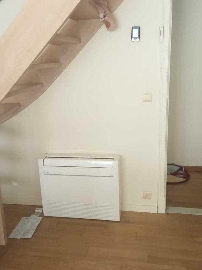 Realisatie Mitsubishi multisplit aircowarmtepomp met 4 binnenunits te Gent