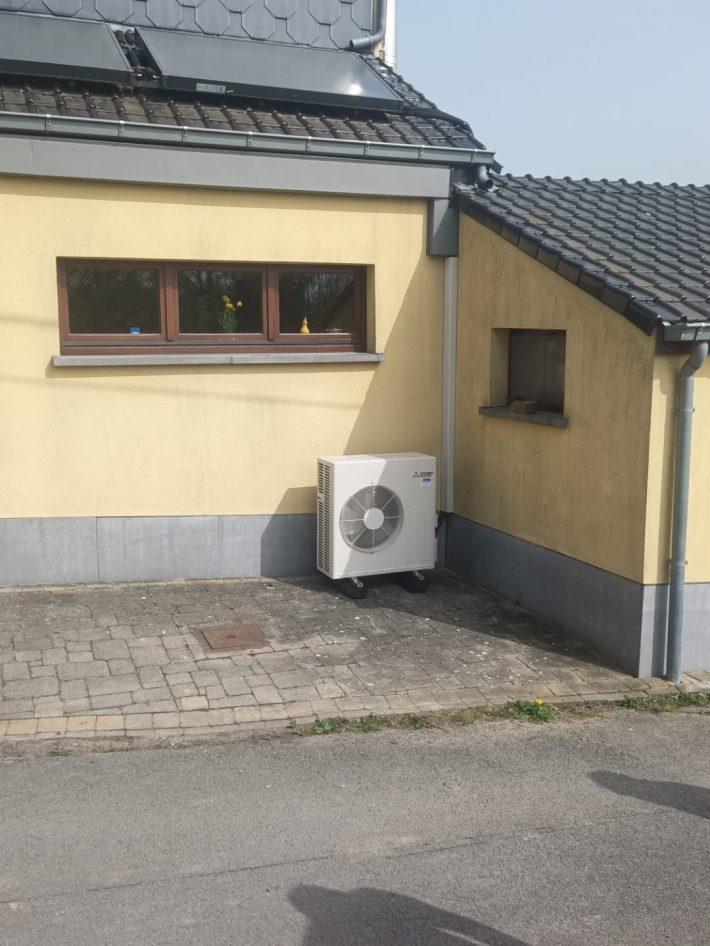 Realisatie Mitsubishi single split aircowarmtepomp te Herzele