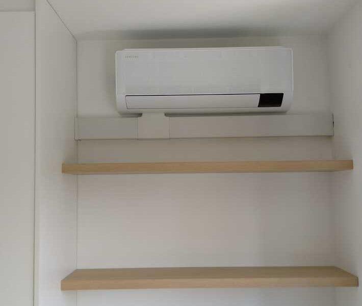 Realisatie Samsung multisplit airco/warmtepomp met 2 binnenunits Wind Free Comfort te Erembodegem
