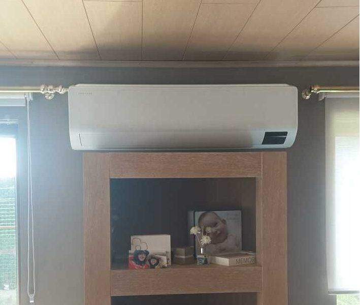 Realisatie Samsung multisplit airco/warmtepomp met 2 binnenunits wind free Comfort te Zwalm