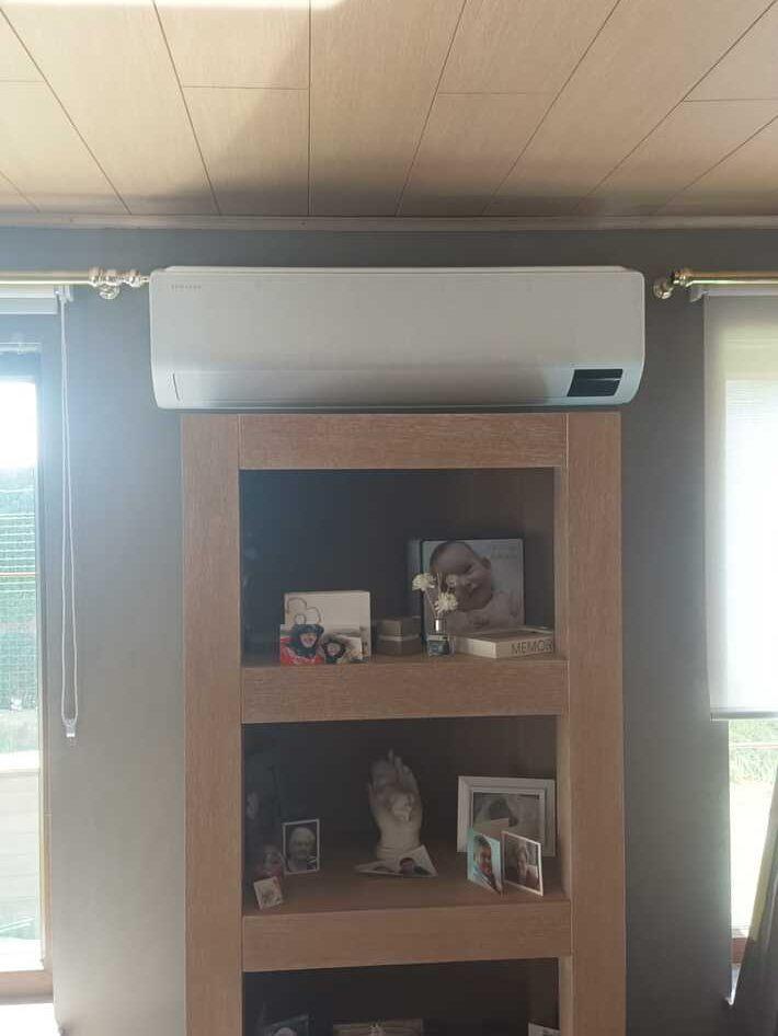 Realisatie Samsung multisplit aircowarmtepomp met 2 binnenunits wind free Comfort te Zwalm