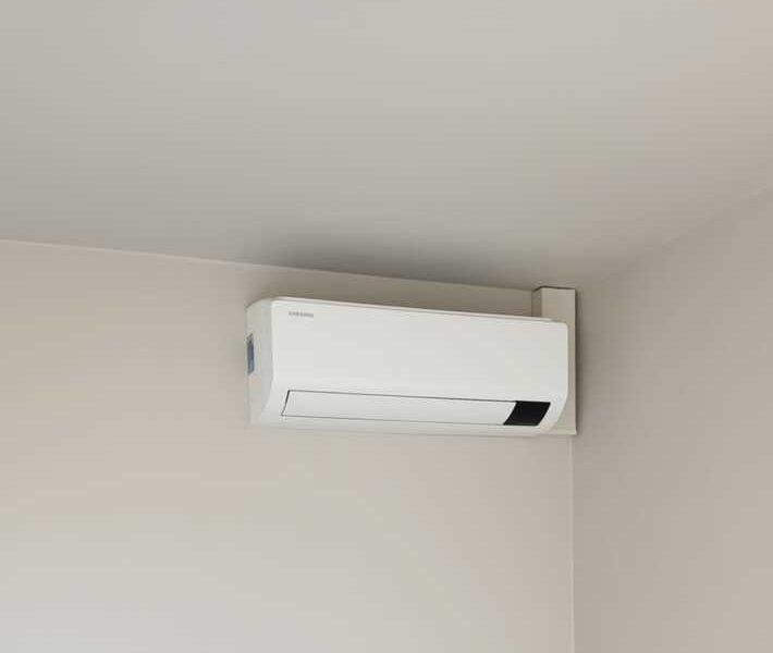 Realisatie Samsung multisplit airco/warmtepomp met 3 Luzon binnenunits te Vliersele