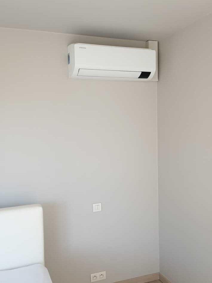 Realisatie Samsung multisplit aircowarmtepomp met 3 Luzon binnenunits te Vliersele