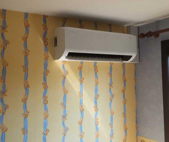 Realisatie Samsung multisplit airco/warmtepomp met 4 binnenunits Wind Free Comfort + Elite te Erpe-Mere