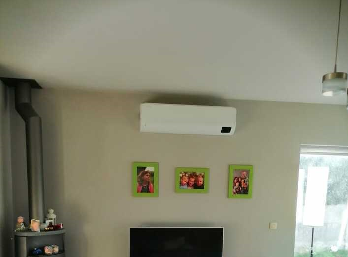 Realisatie Samsung multisplit airco/warmtepomp met 4 binnenunits Wind Free Comfort + Elite te Ressegem