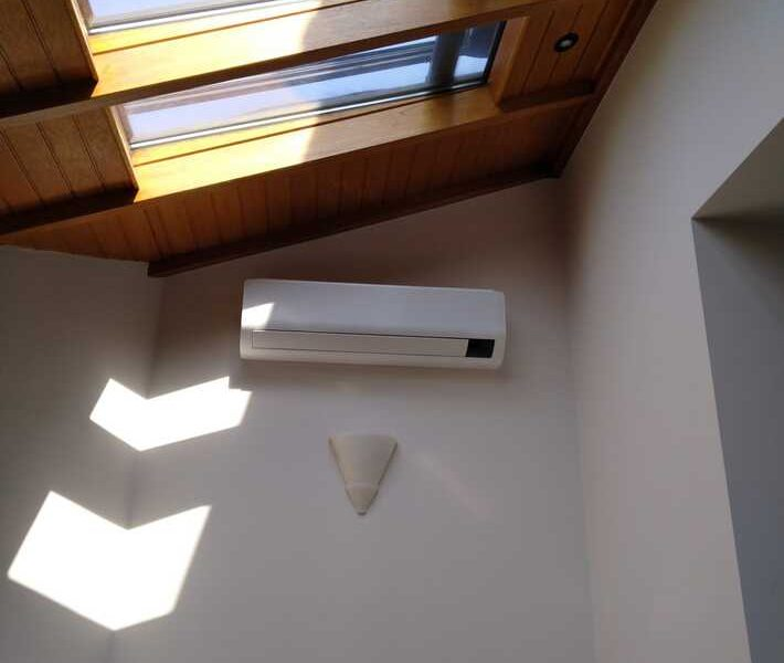 Realisatie Samsung multisplit airco/warmtepomp met 4 binnenunits Wind Free Comfort te Wambeek