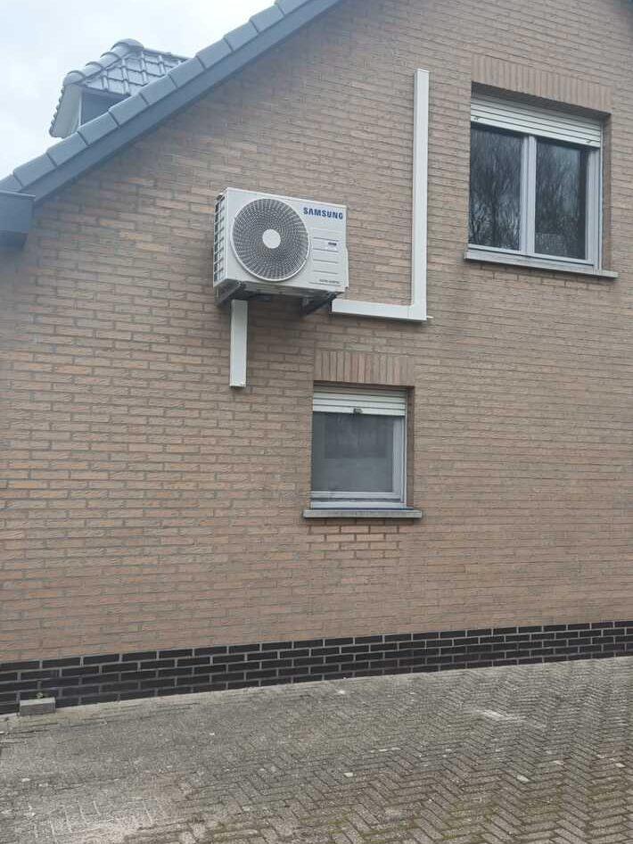Realisatie Samsung multisplit aircowarmtepomp met 4 binnenunits Wind Free Comfort te Wetteren