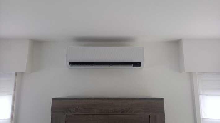 Realisatie Samsung multisplit airco/warmtepomp met 4 binnenunits Wind Free Comfort te Wetteren