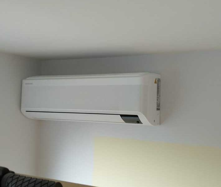 Realisatie Samsung multisplit airco/warmtepomp met 4 binnenunits Wind Free Elite te Lede
