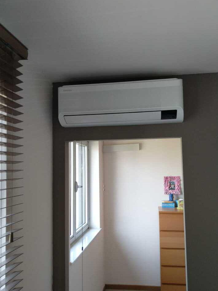 Realisatie Samsung multisplit aircowarmtepomp met 4 binnenunits Wind Free Elite te Lede